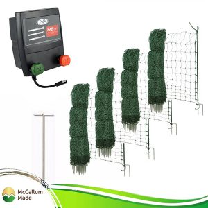 poultry netting kit battery mains 200m